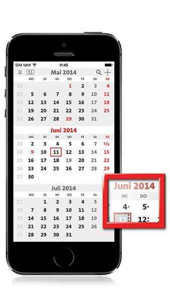 De eerste mobiele 3-maandskalender