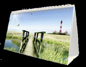 terminic Tischkalender Zeltkalender Focus Muster Leuchtturm aussen